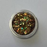 Ромбики мелкие (Золото голография)