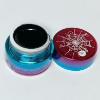 Гель краска Gellaktik паутинка чёрная, 5 гр