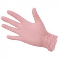 Перчатки розовые р. M 50 пар NitriMAX